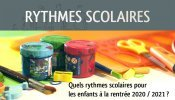 Rythmes scolaires 2020 - 2021